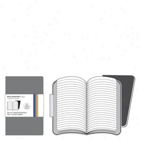Volant Ruled Notebook Xsml By Moleskine - Grey