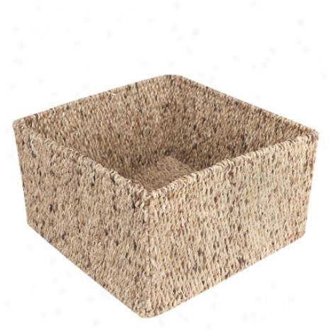 Water Hacinth Storage Basket By Design Ideas - Small