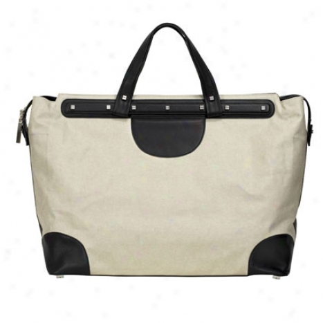 Weekender Du ffel Bag By Bodhi - Sand/black