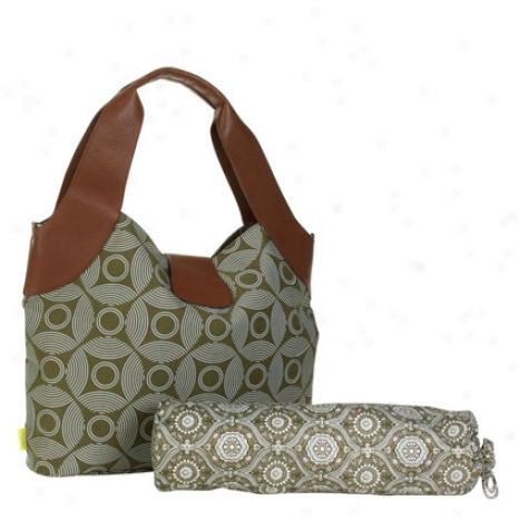 Wildflower Diaper Bag By Amy Butler - Sun & Month Sepia