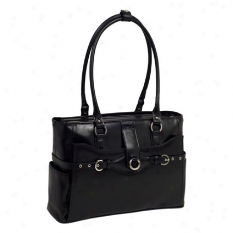 Willow Springs Leather Ladies Briefcase By Mcklein - Black