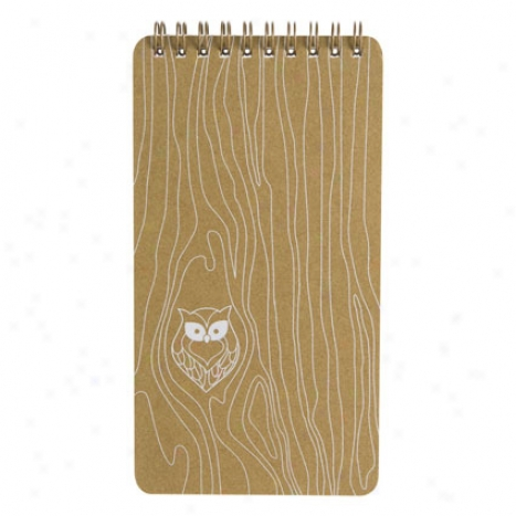 Wiod Grain Owl Tablet By Girl Of All Work - Burnt Sienna