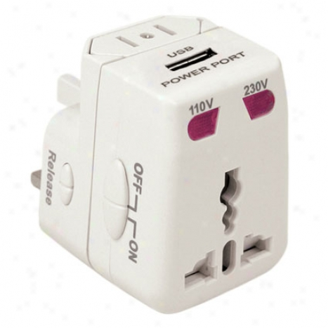 Worldwlde Adapter & Usb Charger White