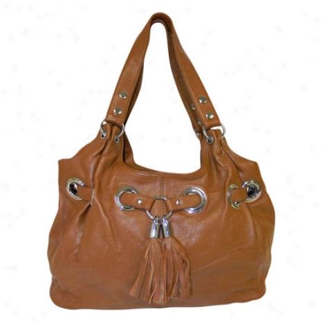 Zara Leather Tote Bag By Donna Bella Designs - Tan