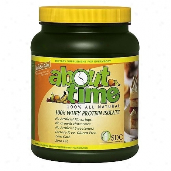 About Time's Whey Isolate Prot Birthday 2.0lb