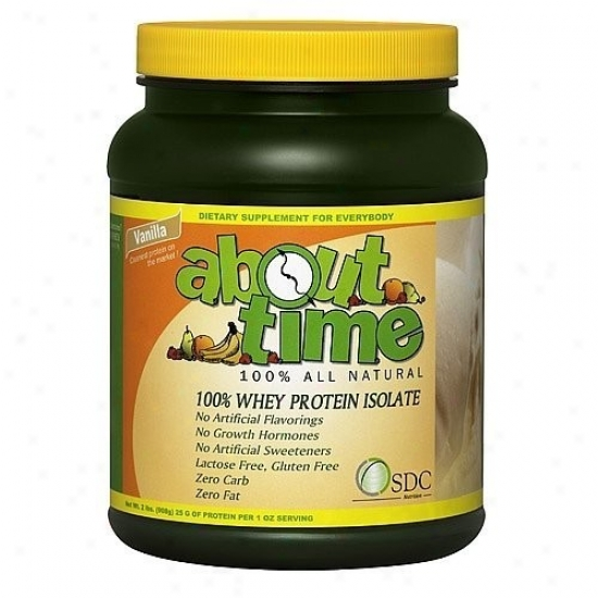 About Time's Whey Isolate Prot Vanilla 2.0lb