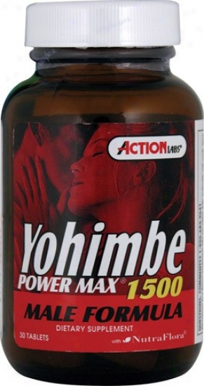 Action Labs Yohimbe Power Max 1500 30tabs