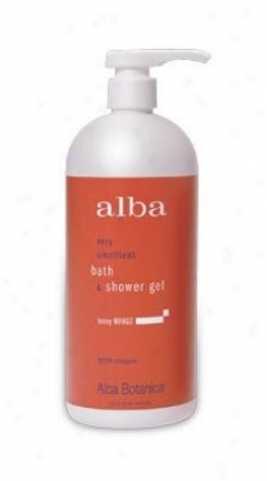Alba's Bath Gel Honey Mango 32oz