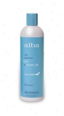 Alba's Bath Gel Midnight Tub3rose 12oz