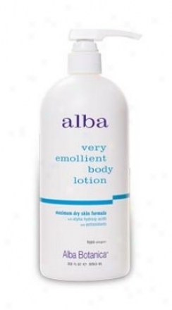 Alba 's Body Lotion Dry Skin 32oz