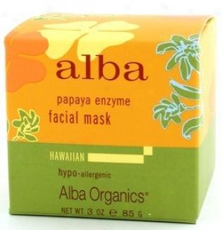 Alba's Facial Hawaiian Papaya Enzymr Mask 3oz