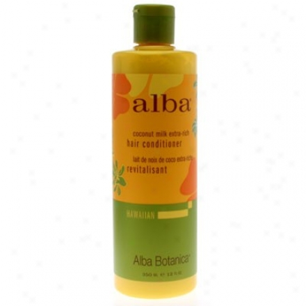Alba's Hair Conditioner Hawaiian Coconut Milk Extra-rich Hair 12oz