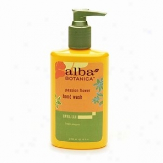Alba's Hand Wash Passion Flower 8 Fl Oz