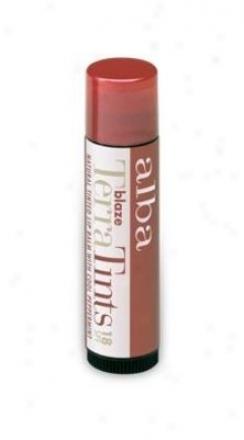 Alba's Lip Balm Terratint Spf18 Blaze .15oz Stick