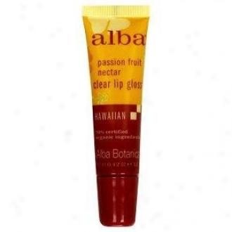 Alba's Lip Gloss Passion Fruit Nectar Clear 0.42oz