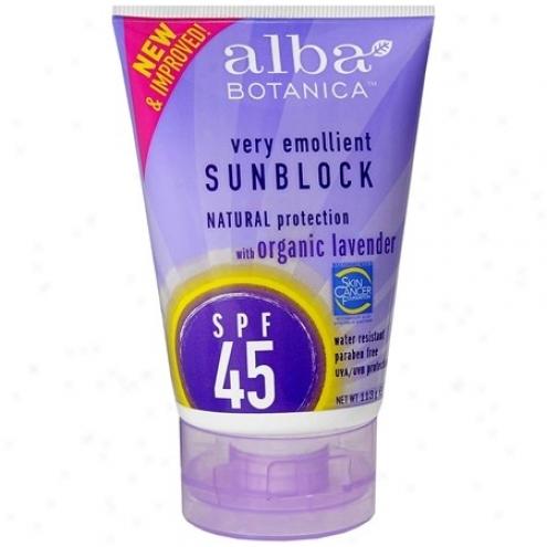 Alba's Sunscrden Spf 30 Lavendar 4oz