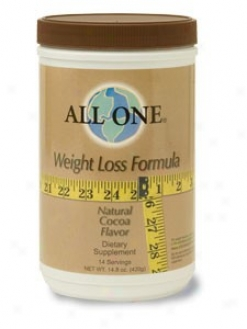 All-1's Weight Waste Form Cocoa Powder 14.8oz
