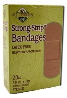 All Terrain's Bandages Strong Strip Latex Free 20ct