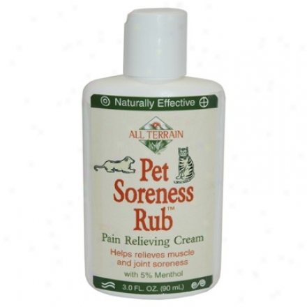 All Terrain's Pet Soreness Rub 3oz
