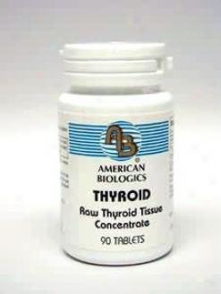 American Biologic Thyroid 130 Mg 90 Tabs