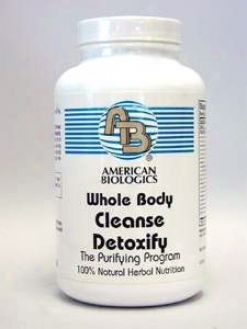 American Biologic Uninjured Body Purify Detoxify 300 Tabs