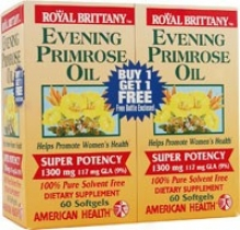 American Health's Evening Primrose Oil 1300mg 60sg+60sg