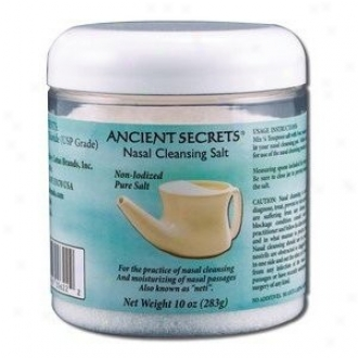Ancient Secret's Nsal Cleansing Salt Jar 10oz