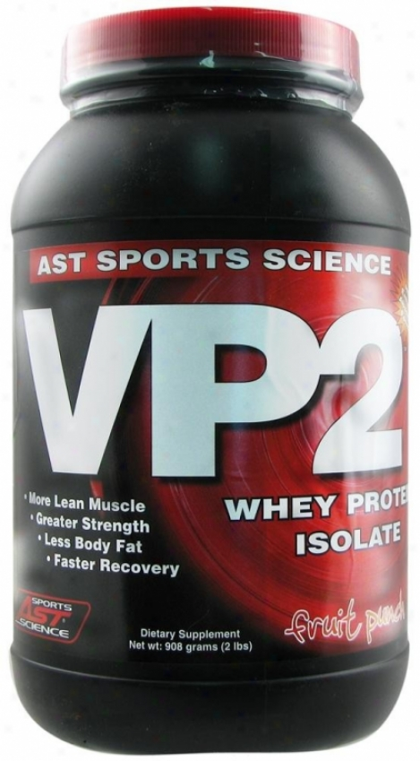 Ast Sport's Vp2 Whey Protein Isolate Fruit Punch 2lb