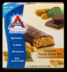 Atkins Advan5age Peanut Butter Choc 15/bx