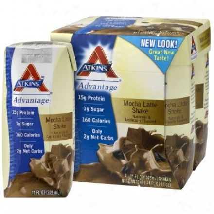 Atkins Advantage Shakes Rtd Mocha Latte 11oz X 4pks