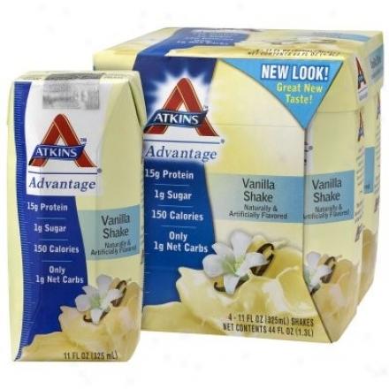 Atkins Advantage Shakes Rtd Vanilla 11oz X 4pks