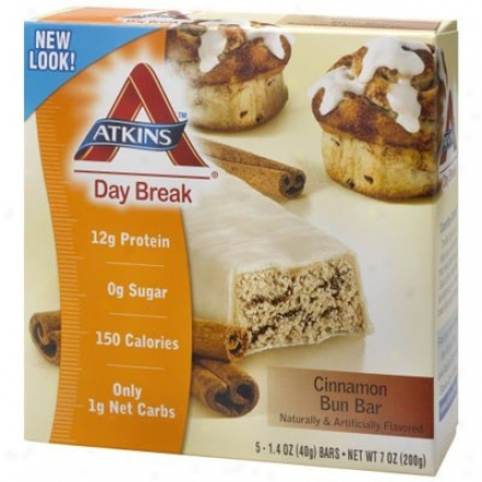 Atkins Day Break Bar Cinnamon Bun 5/bx