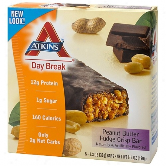 Atkins Day Break Bar Crisp Bar Peanut Butter Fudge Crisp 5/bx