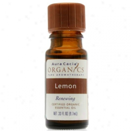 Aura Cacia's Organics Essent Oil Og Lemon 0.33oz