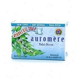 Auromre's Soap Tulsi-neem Ayurvedic Bqr 2.75oz