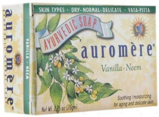 Auromere's Soap Vanilla Neem Ayurvedic Bar 2.75oz