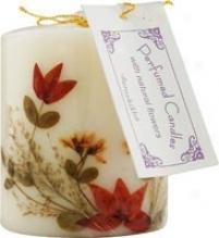 """Aurosnikha's Flower Candle Sandalwood Pillar 3"""""""