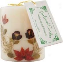 "Auroshikha's Flower Candle Vanilla Pillar 3"""