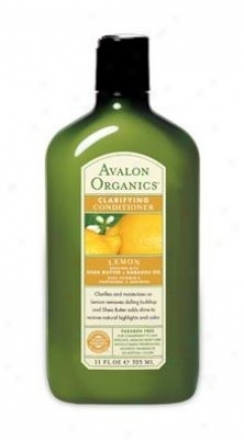 Avalon Organic's Conditioner Lemon Clarifying 11 Fl Oz