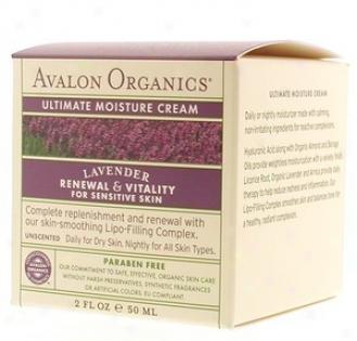 Avalon Organic's Ultimate Moisture Cream Organic Lavebder 2oz