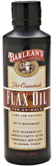 Barlean Flax Oil On account of Animals 12oz