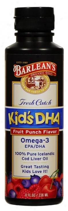 Barlean Kit Dha Fruit Punch 8 Fl Oz