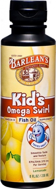 Barleam Omega Swirl (kid's Lemonade Fish Oil)-8oz