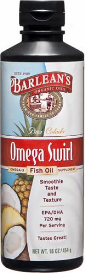Barlean Omega Swirl Pina Colada Fish Oil 16 Fl Oz