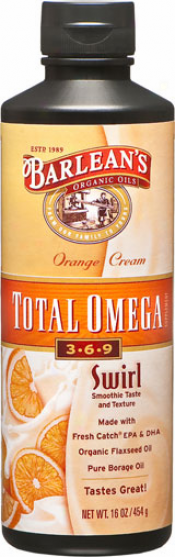 Barlean Omega Swirl Total Omega Vegan Orange Cream 16oz
