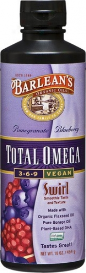Barlean Omega Swirl Total Omega Vegan Pomegranate/blueberry 16oz