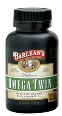 Barlean Omega Twin(flax/borage Combo) 1000mg 120caps