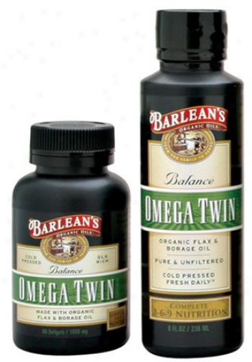 Barlean Omega Twin(flax/borage Combo) 1000mh 60caps