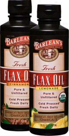 Barlean Organic Flax Oil Flavor3d Lemonade 12oz