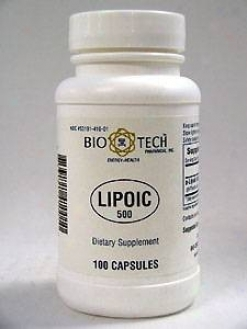 Bio-tech's Lipoic 500 Mg 100 Caps